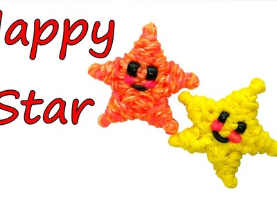 Happy Star Tutorial by feelinspiffy (Rainbow Loom)