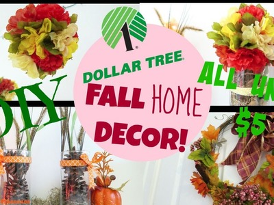 How to: DIY Fall Home Decor: Using ONLY Dollartree Items