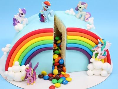How To Make A Rainbow Pinata Cake. PASTEL ARCOIRIS