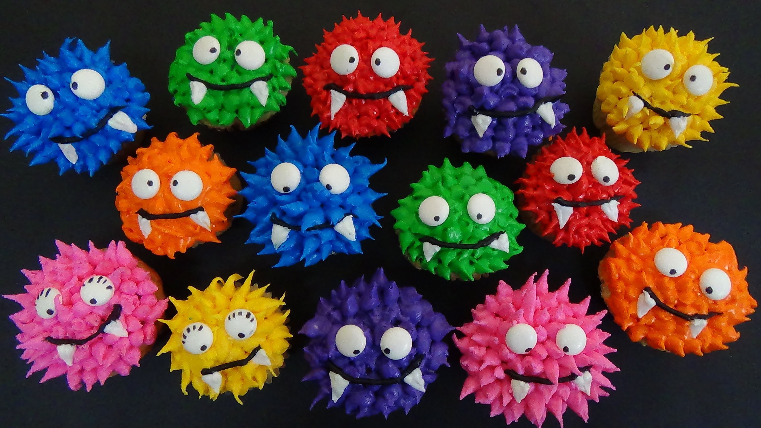 How to make choc banana muffins and decorate as mini rainbow monsters