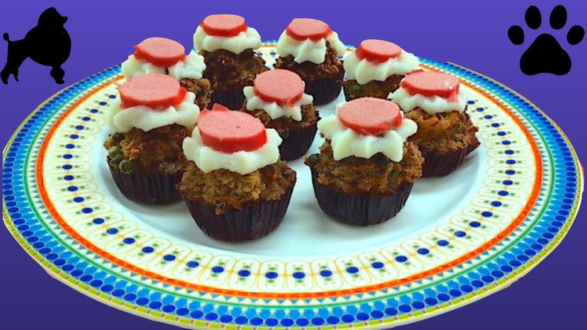 How to make MINI PUPCAKES MEATLOAF CUPCAKES VEGGIE SMUGGLE MUFFINS DIY Dog Food by Cooking For Dogs