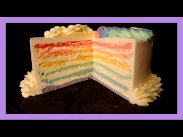How To : Rainbow Cake - Rainbowcake (english version!!!) - von Kuchenfee