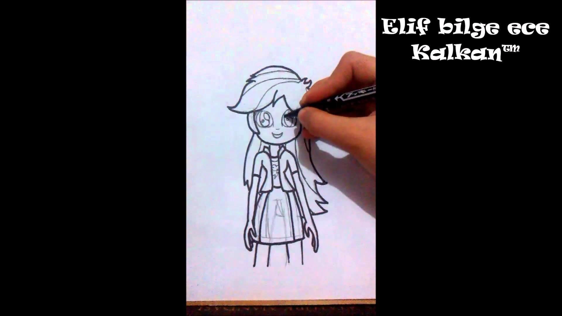 MLP Equestria girls [Rainbow Dash Çizim] (How To Draw Rainbow Dash)