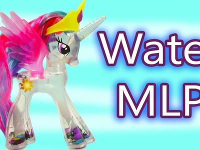 MLP Water Glitter Princess Celestia Rainbow Shimmer My Little Pony Review Cookieswirlc