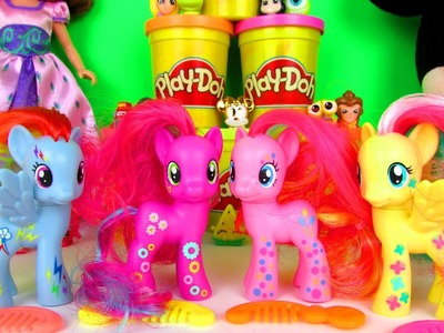 My Little Pony Neon Rainbow Pinkie Pie Rainbow Dash Fluttershy & Cheerilee Ponies Unboxing & Review