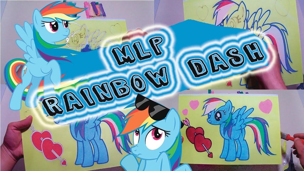 My Little Pony - Rainbow Dash Sand Painting Full MLP Kids Movie