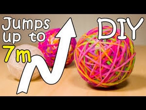 NEW 2016 DIY Bouncy Ball Out Of Rainbow Loom Bands Super Ball Jumps Up To 7 meters high