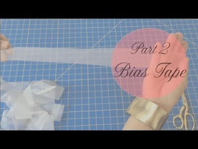 Part 2of3 Sewing Bias Tape : How to make a Lace Capelet, Cover-up, or Shawl