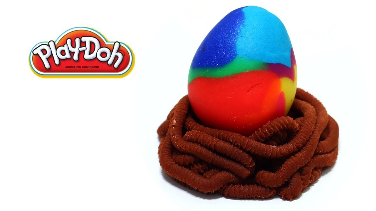 Play-Doh Giant Rainbow Easter Egg Suprise Eggs Dinosaur Egg Dragon Egg Egg Hunt Easy