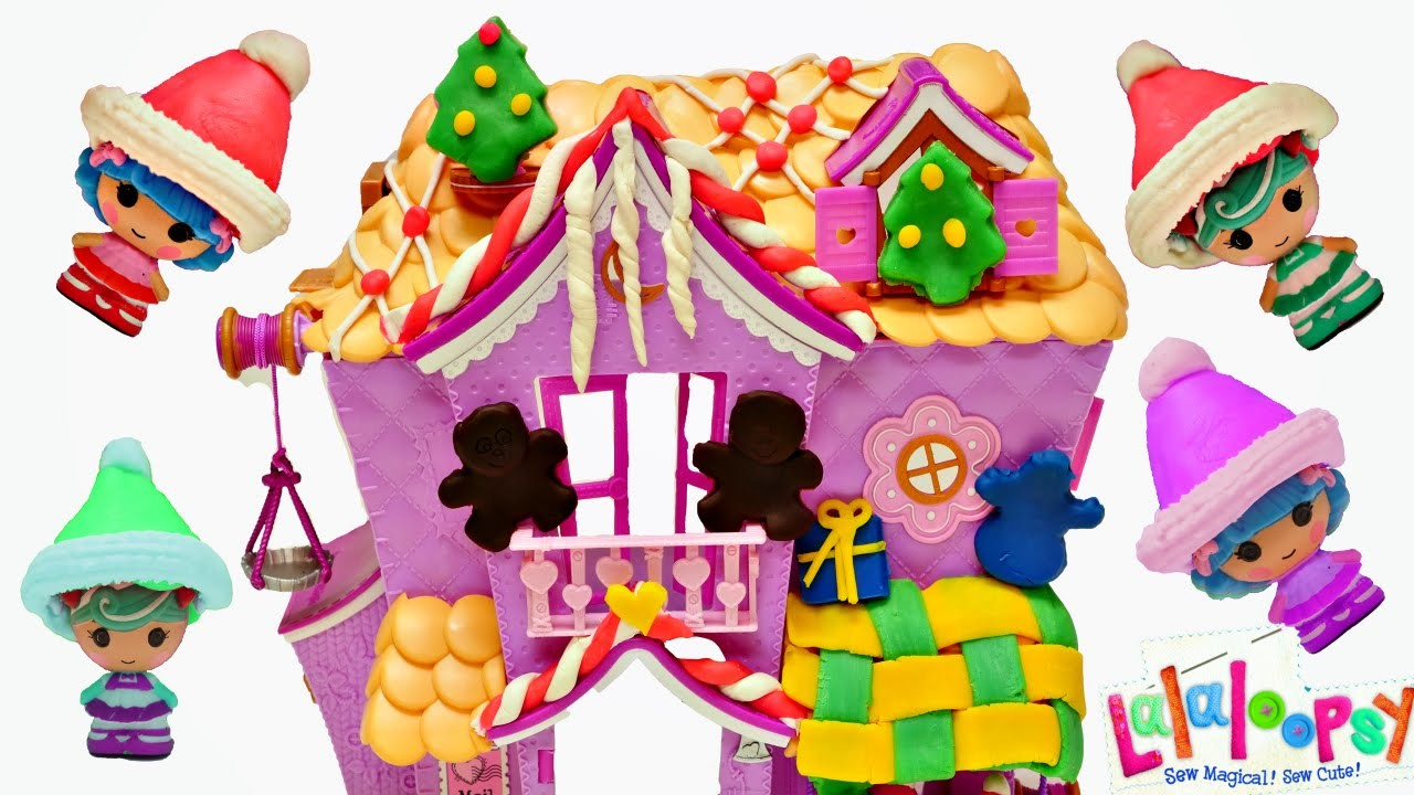 Play Doh Lalaloopsy Christmas Decorated Doll House Playdough Muñeca casa Plastilina DCTC