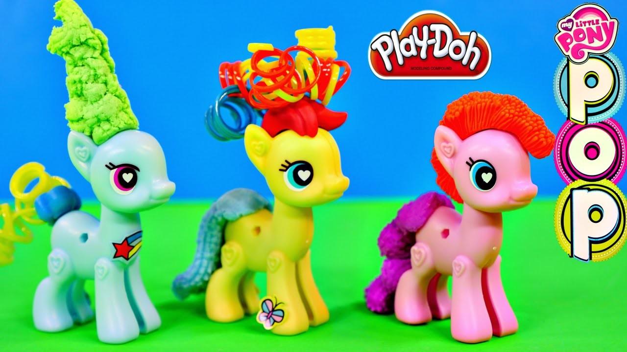 Play Doh Plus My Little Pony POP Design & Build Rainbow Dash MLP Play Dough Hair Tails