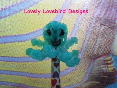 Rainbow Loom Kawaii Octopus Pencil Topper Charm.