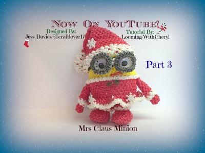Rainbow Loom Mrs Claus Minions (PART 3 of 3) - Loomigurumi - Amigurumi Hook Only