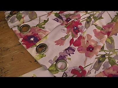 Sewing with Flames: No-Sew Grommet Curtains