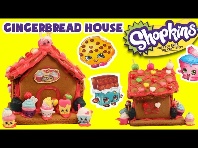 ★Shopkins GINGERBREAD HOUSE Kit★ DIY Shopkins Sweets Shop Candy Food Craft KTR Videos