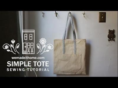 SIMPLE TOTE BAG Sewing Tutorial