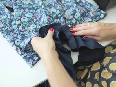 Summer dress sewing tutorial: ruffles & gathering (7.7)