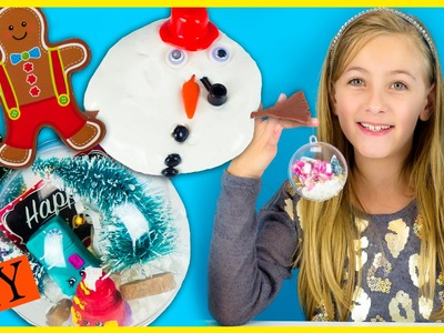 WINTER DIY CRAFTS HAUL: REALLY UGLY SOCKS, ORNAMENTS, SNOW, SHOPKINS MLP ACTIVITIES FOR KIDS PLP TV