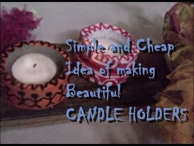 Amazing DIY Cement Candle Holder Making With Plastic Bottle