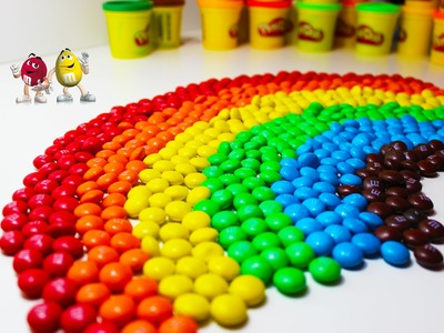 Colors of Rainbow with 1000 Thousand M&M's