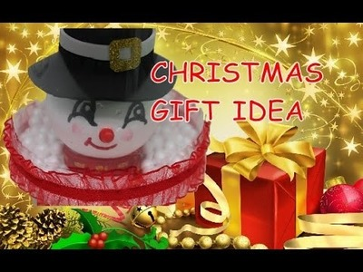 DIY Crafts: Christmas Gift Ideas - Snowman in Plastic Bottle Recycled Bottles Crafts