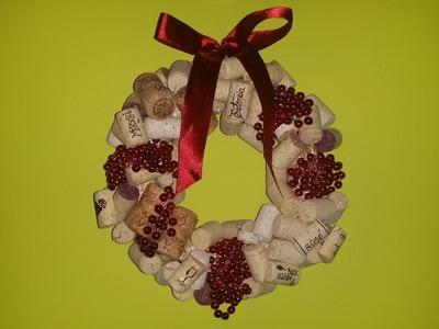 DIY - Easy Christmas Wine Cork Wreath