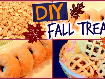 DIY Fall Treats 2015! Pumpkin Spice Doughnuts, Mini Apple Pies and Caramel Popcorn