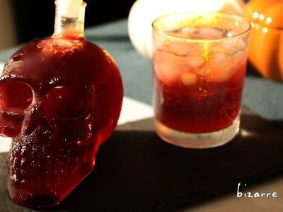 DIY Halloween Bloody Blackcurrant Vodka Sour | d for delicious