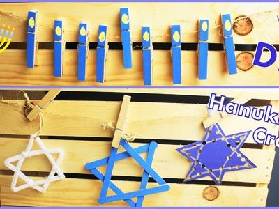 DIY Hanukkah Crafts For Kids & Adults - Star Of David & Menorah Craft
