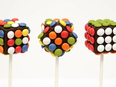 DIY-How To Make Rubik M&M´s Chocolate Pops (COOKING TOYS)
