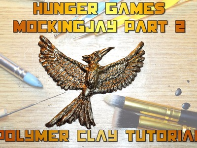 DIY mockingjay for the Hunger games Mockingjay part 2 movie polymer clay tutorial
