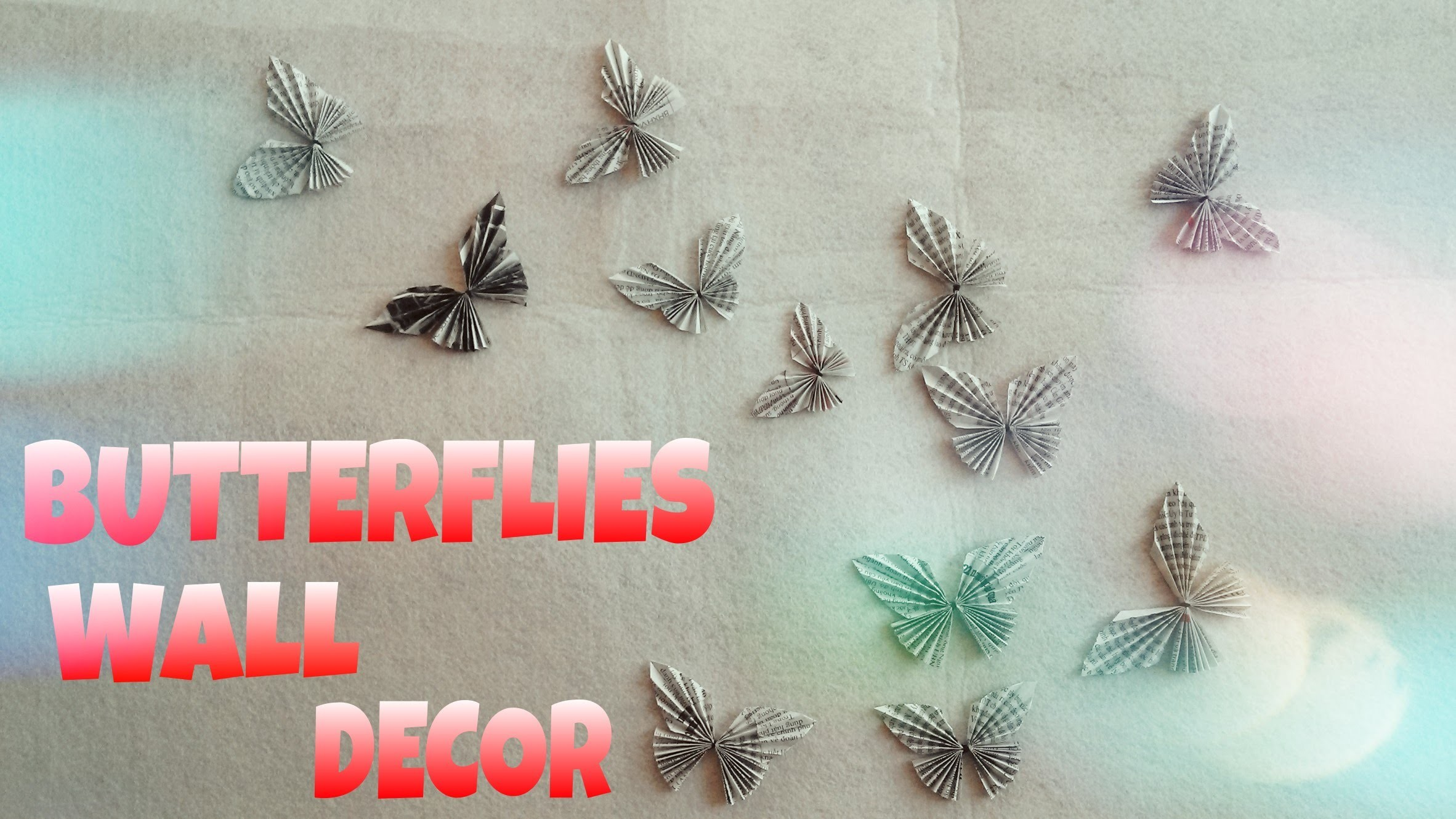 DIY Room Decor - Paper Butterflies Wall Decor (Very Easy)