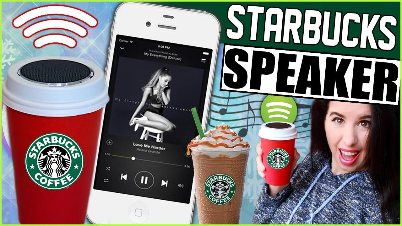 DIY Starbucks Bluetooth Speaker! | Make A Starbucks Cup Into A Sound System! | Starbucks Speaker!