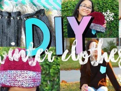 DIY Tumblr Clothes! Winter Inspired DIY Ideas!