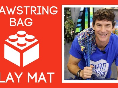 Drawstring Bag Toy Play Mat: Easy Sewing Tutorial with Rob Appell of Man Sewing