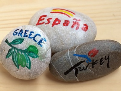 Gifts from the sea, PAINTED PEBBLES, easy DIY