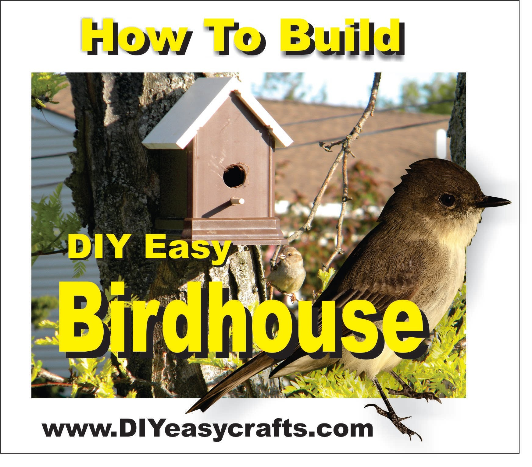 How to Build a DIY Easy Birdhouse with Maintenance Free Trex and PVC 1