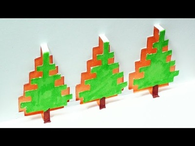 How to make a Christmas Tree Pop Up Card | FREE Template - (Kirigami 3D) Christmas Greetings!