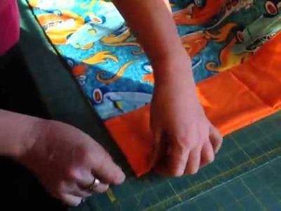 How to make a easy pillow case  rolled method DIY sewing #diy #sew #howto