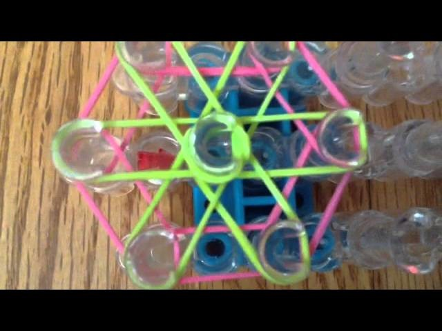 How to make a rainbow loom flower charm