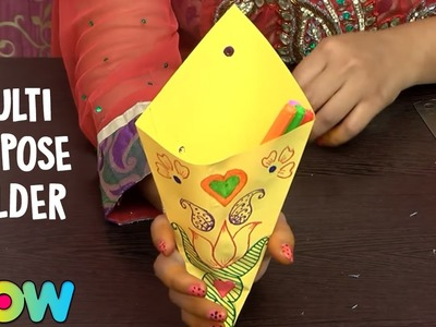 How To Make Multi Purpose Holder | DIY | Origami Crafts | Tutorial | Wow Juniors