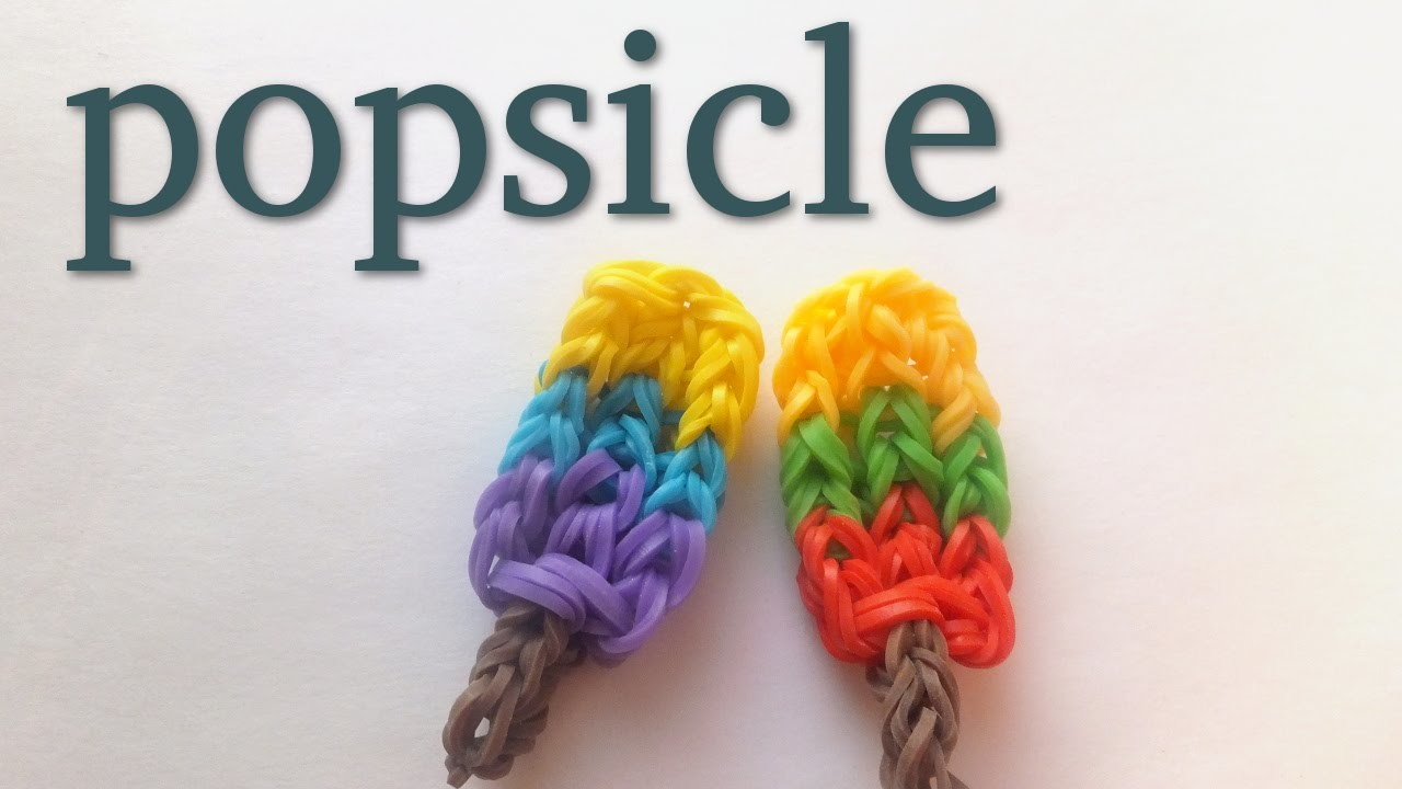 How to make Rainbow Loom Popsicle Charm | loom bands tutorial