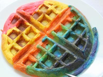 How to Make Rainbow Waffles