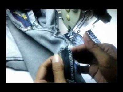 How to sewing jean pants pencil into standard size ( Cara menjahit permak Celana jean pinsil