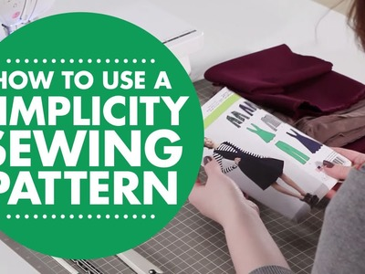 How to use a Simplicity Sewing Pattern