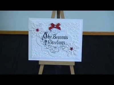 My handmade Christmas cards for a Challenge on UK-Irelandcraftswaps group