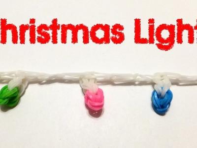 Rainbow loom Christmas Lights charms | Xmas Loom bands ornaments