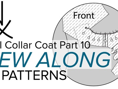 Sewing a Coat, A Sew Along. Part 10, Adding the Facings to Complete the Roll Collar