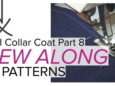 Sewing a Coat, A Sew Along. Part 8, Stitching the Darts