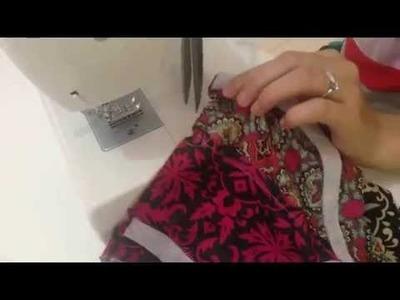 Sewing a kameez.kurti- 1. Making a neckline